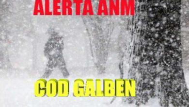 Photo of Avertizare ANM : COD GALBEN de ninsori in 12 Judete. Unde se deszapezeste deja