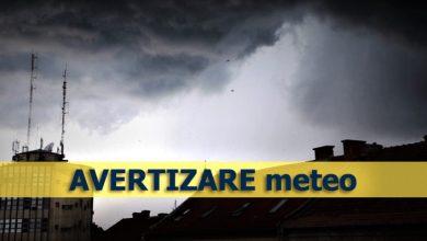 Photo of Avertizare meteo: cod galben de vreme severă în aproape jumătate de țară