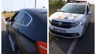 Photo of VIDEO Șmecher cu BMW de lângă Lugoj, amator de live-uri de la volan, lăsat pieton de către un polițist rutier